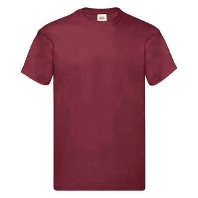 Стильная мужская футболка на лето кирпично-красная (темно-красная) - S, M, L, 2XL, 3XL