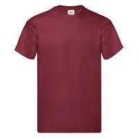 Стильная мужская футболка на лето кирпично-красная (темно-красная) - S, M, L, 2XL, 3XL, фото 1