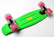 Penny Board. Green. Светящиеся малиновые колеса., фото 3