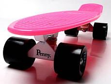 Penny Board. Малиновый цвет. Черные колеса, фото 3
