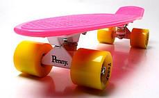 Penny Board. Малиновый цвет. Желтые колеса, фото 3
