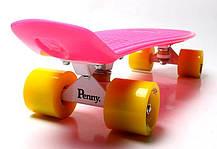 Penny Board. Малиновый цвет. Желтые колеса, фото 2