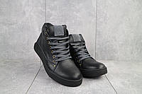 Мужские ботинки кожаные зимние черные Bastion 18082ч, фото 1