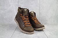 Мужские ботинки кожаные зимние коричневые CAT 101, фото 1