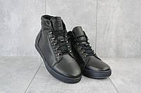 Мужские ботинки кожаные зимние черные StepWey 7260+, фото 1