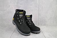 Ботинки подростковые Monster T черные-нубук (натуральная кожа, зима), фото 1