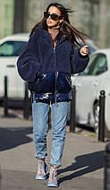 Куртка молодіжна плюш з капюшоном Тедді різних кольорів еврозима 44-48 р, фото 3