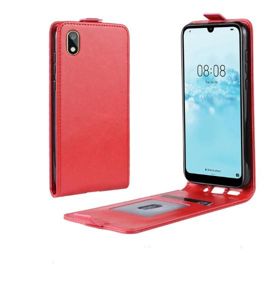Чехол книжка для Huawei Y5 2019 Флип вертикальный красный