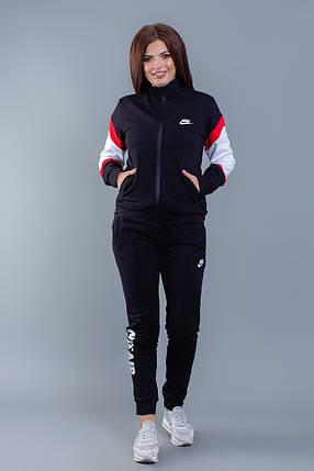 """Женский трикотажный спортивный костюм """"Nike Аir"""" с контрастными вставками (большие размеры), фото 2"""