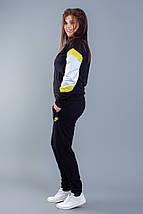 """Женский трикотажный спортивный костюм """"Nike Аir"""" с контрастными вставками (большие размеры), фото 3"""