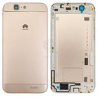 Задняя панель корпуса (крышка аккумулятора) для Huawei Ascend G7 G760-L01 Оригинал Золотистый С боковыми кнопками, без лотка SIM-карты