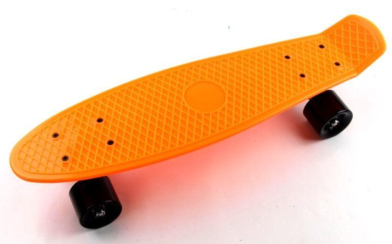 Penny Board. Оранжевый цвет. Черные колеса