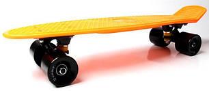 Penny Board. Оранжевый цвет. Черные колеса, фото 2