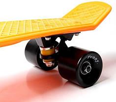 Penny Board. Оранжевый цвет. Черные колеса, фото 3