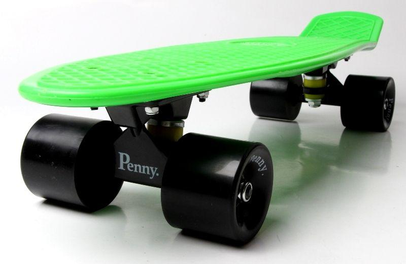 Penny Board. Салатовый цвет. Черные колеса