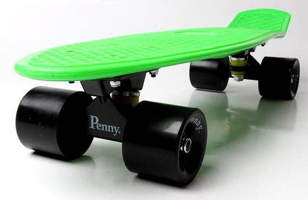 Penny Board. Салатовый цвет. Черные колеса, фото 2