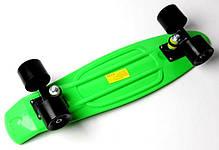 Penny Board. Салатовый цвет. Черные колеса, фото 3