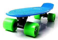 Penny Board. Синий цвет. Зеленые колеса, фото 3