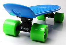 Penny Board. Синий цвет. Зеленые колеса, фото 2