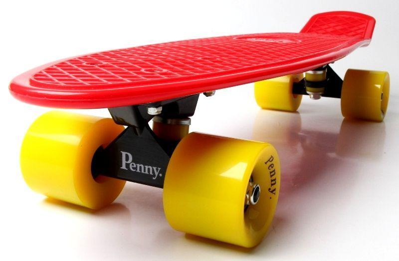 Penny Board. Красный цвет. Желтые колеса.