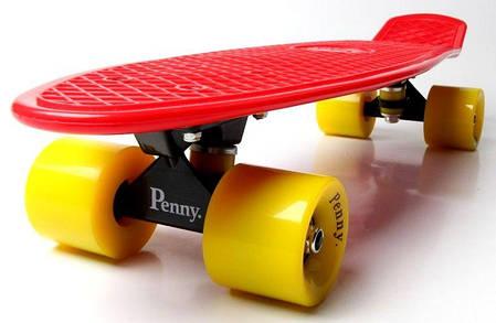 Penny Board. Красный цвет. Желтые колеса., фото 2