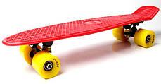 Penny Board. Красный цвет. Желтые колеса., фото 3