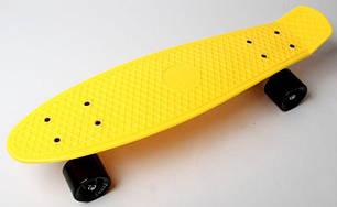 Penny Board. Желтый цвет. Черные колеса., фото 2