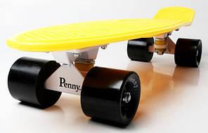 Penny Board. Желтый цвет. Черные колеса., фото 3
