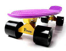 Penny Board. Фиолетовый цвет. Черные колеса., фото 3