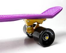 Penny Board. Фиолетовый цвет. Черные колеса., фото 2