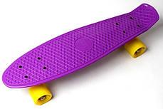 Penny Board. Фиолетовый цвет. Желтые колеса., фото 2