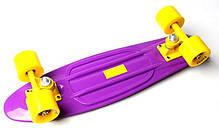 Penny Board. Фиолетовый цвет. Желтые колеса., фото 3