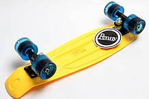 Penny Board. Желтый цвет. Гравировка, фото 2