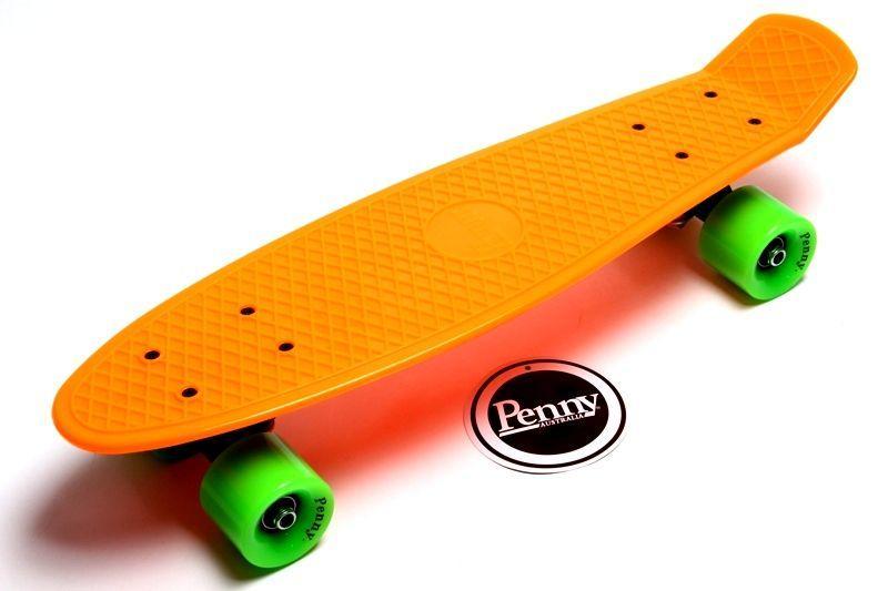 Penny Board. Оранжевый цвет. Гравировка.