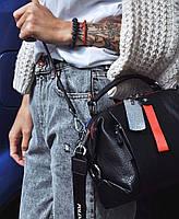 Женская кожаная сумка трансформер на два отделения Polina & Eiterou, фото 4