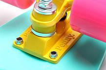 Penny Board. Бирюзовый цвет. Гравировка, фото 2