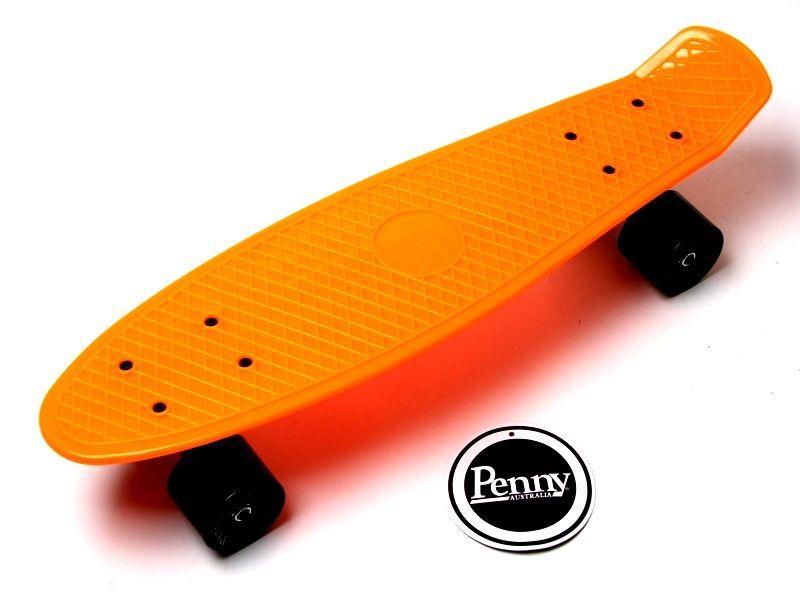 Penny Board. Оранжевый цвет 2 . Гравировка