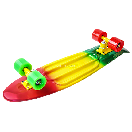 Скейт Пенни Борд Print, Penny Board Nickel 27 Градиент Флаг Ямайки, фото 2