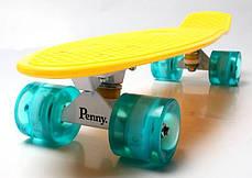Скейт Penny Board Yellow Светящиеся колеса, фото 3