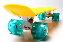 Скейт Penny Board Yellow Светящиеся колеса, фото 2
