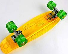 """Прозрачный Penny Board """"Light Side"""" Yellow. Дека и колеса светятся! Встроенная батарея!, фото 3"""