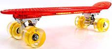 """Прозрачный Penny Board """"Light Side"""" Red. Дека и колеса светятся! Встроенная батарея!, фото 2"""