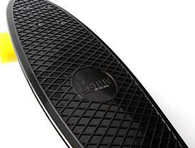 Penny Board. Черный цвет. Желтые колеса, фото 3