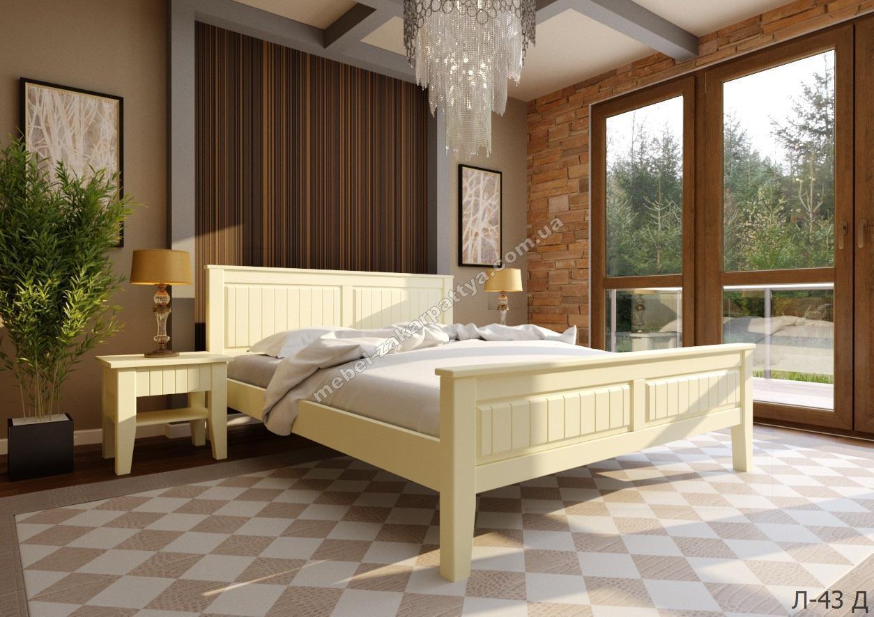 Кровать деревянная  Л-43 Д