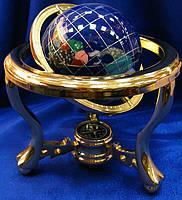 Глобус с камнями и компасом (110мм.)