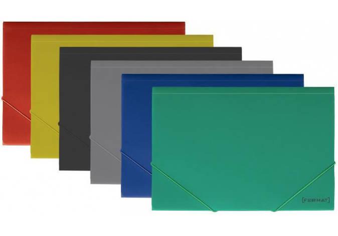 """Папка пластикова  А4 на гумках Format, фактура """"помаранч"""", асорті, фото 2"""
