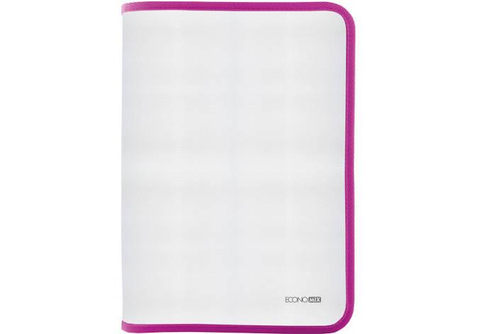 Папка-пенал пластикова на блискавці В5, фактура: тканина, рожевий, фото 2
