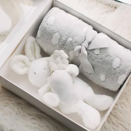 """Пледик с игрушкой """"Зайка"""" (подарочная коробка), фото 2"""