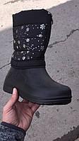 Бахилы женские паяс черные меховые снежинка оптом Украина