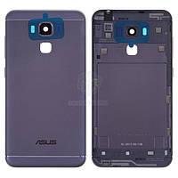Задняя панель корпуса (крышка аккумулятора) для Asus ZenFone 3 Max ZC553KL Оригинал Черный Кнопки регулировки громкости, кнопка включения